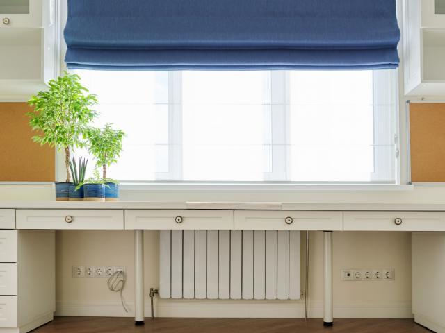 blinds curtains venetians roman blinds blue office