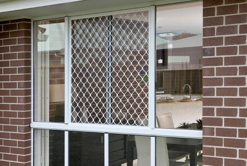 Diamond Grilles - white grille on window